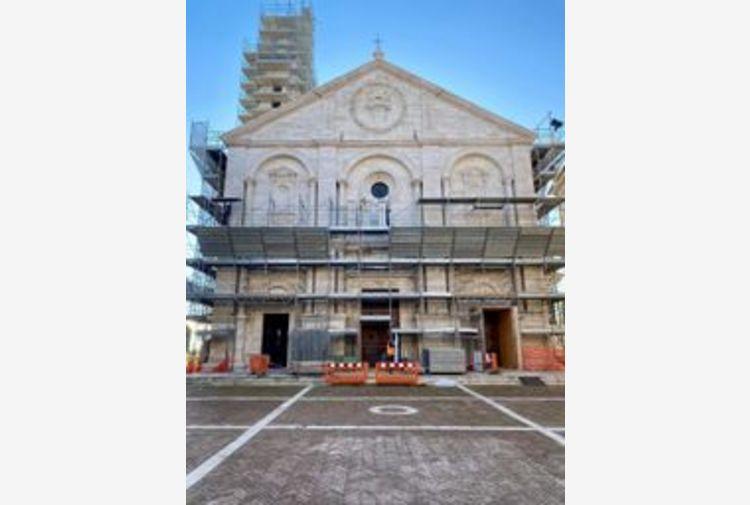 Restauri: Duomo di Pienza, torna visibile facciata