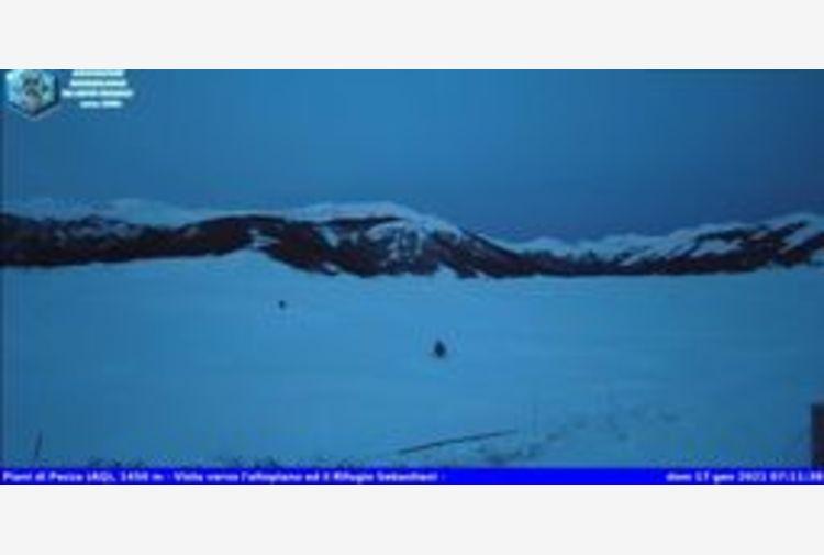 Inverno in Abruzzo, minima Piani di Pezza -26.2