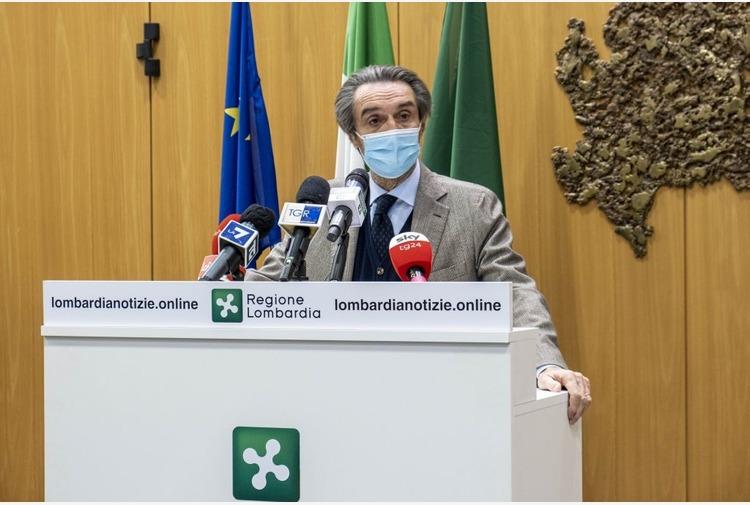 Fontana 'Pronto il ricorso contro Lombardia in zona rossa'