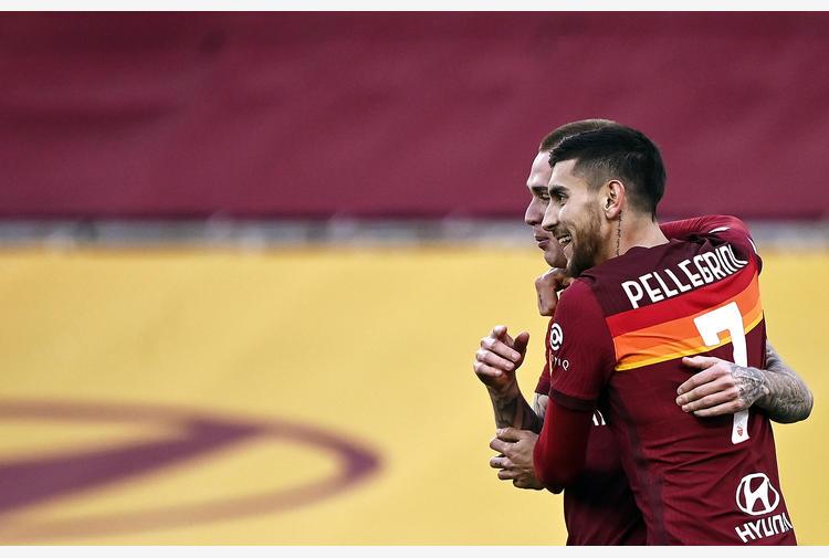 Roma-Spezia 4-3, gol vincente Pellegrini al 93'