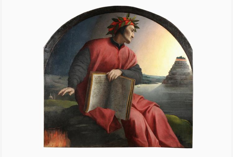 Dante, a Palazzo Vecchio ritratto allegorico del Sommo Poeta