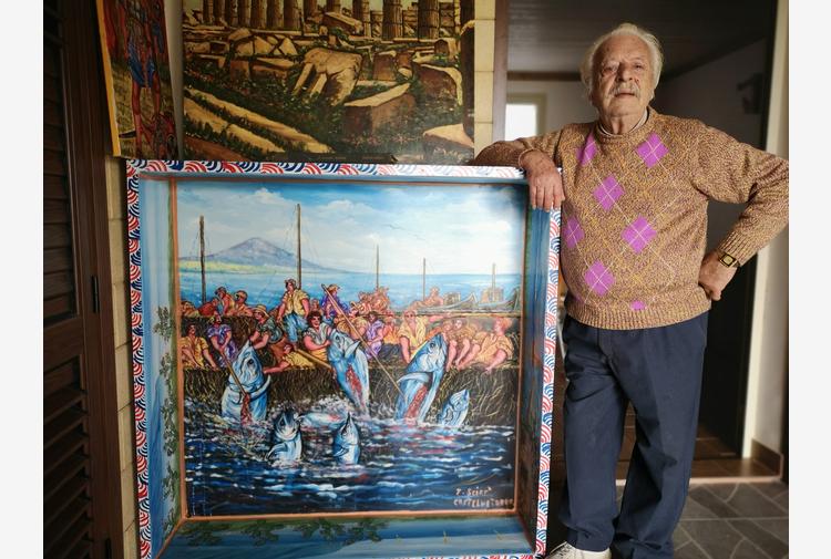 >ANSA-LA-STORIA/Felice, ultimo pittore di carretti siciliani