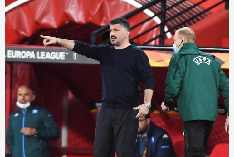 Europa League: Gattuso 'rammarico c'è, meritavamo di più'
