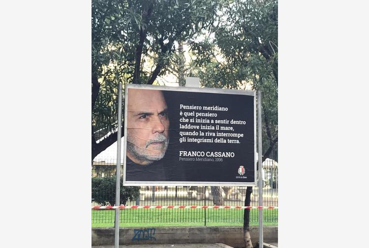 Morto Franco Cassano: Comune Bari gli dedica manifesti