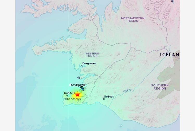 Terremoti: scossa del 5.6 in Islanda, attività vulcanica