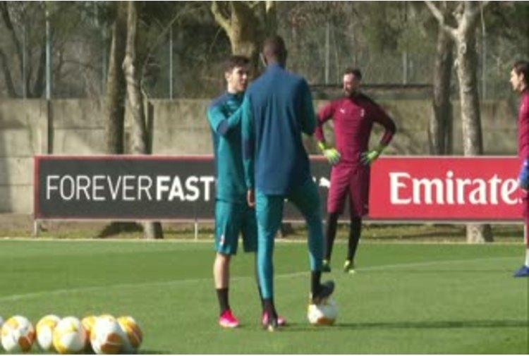 Europa League, il Milan prepara la partita di ritorno con la Stella Rossa