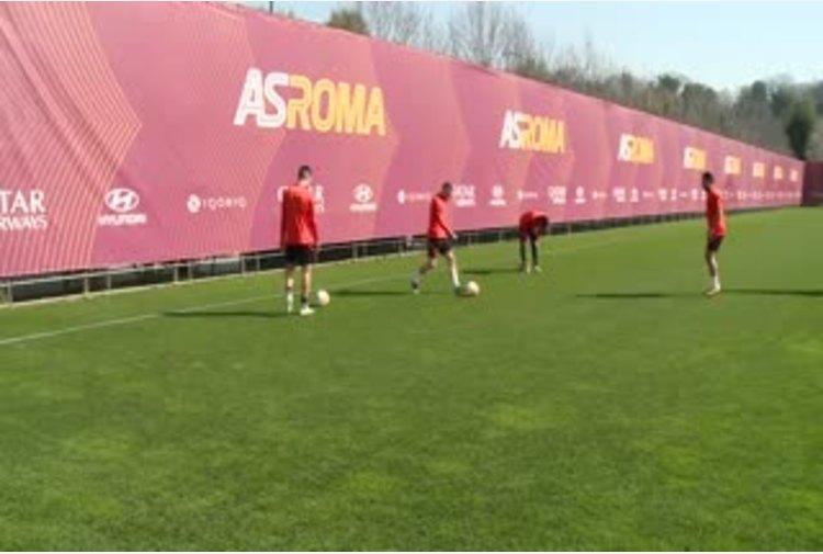 Europa League, la Roma si allena alla vigilia del match con il Braga