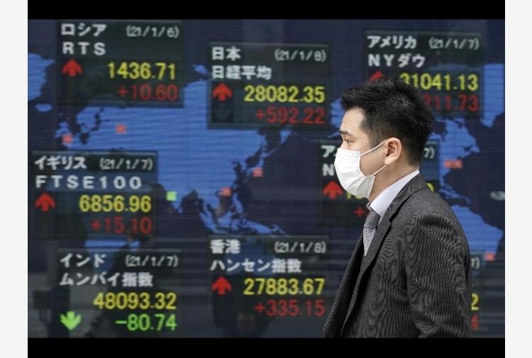 Borsa:Asia chiude in netto calo,timori su inflazione Usa