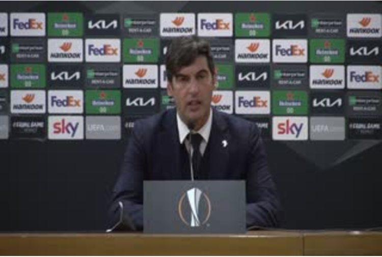 Europa League, Fonseca: 'Mi e' piaciuto l'atteggiamento della squadra