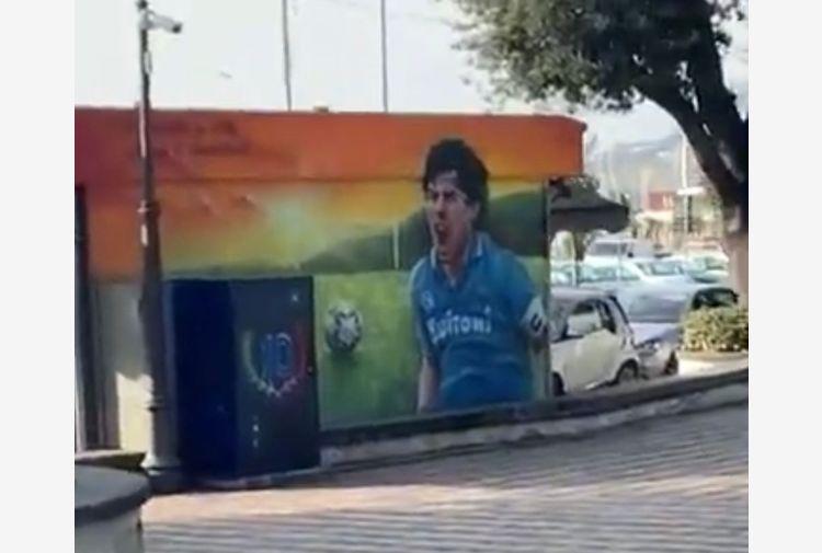 Maradona, anche a Pozzuoli un murales per celebrare il 'pibe'