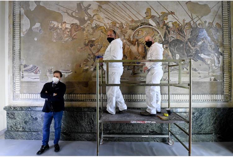 MANN: Mosaico di Alessandro, al via restauro 'epocale'