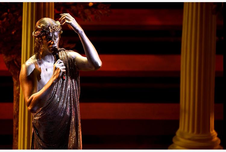 Achille Lauro con Emma e Guerritore-Penelope