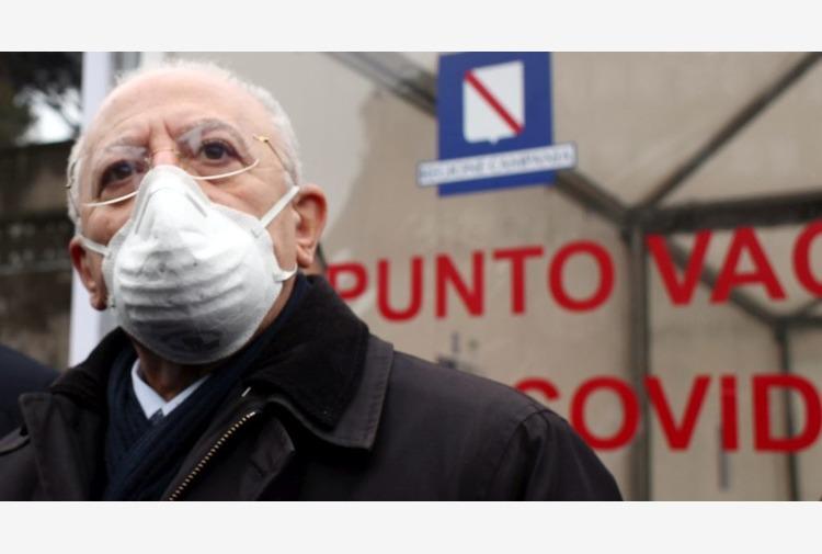 Coronavirus, De Luca 'Campania in zona rossa, era prevedibile'