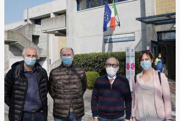 Inaugurato centro vaccinale a San Vito al Tagliamento in Friuli