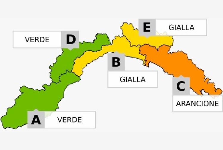 Temporali, allerta arancione da Portofino alla Toscana