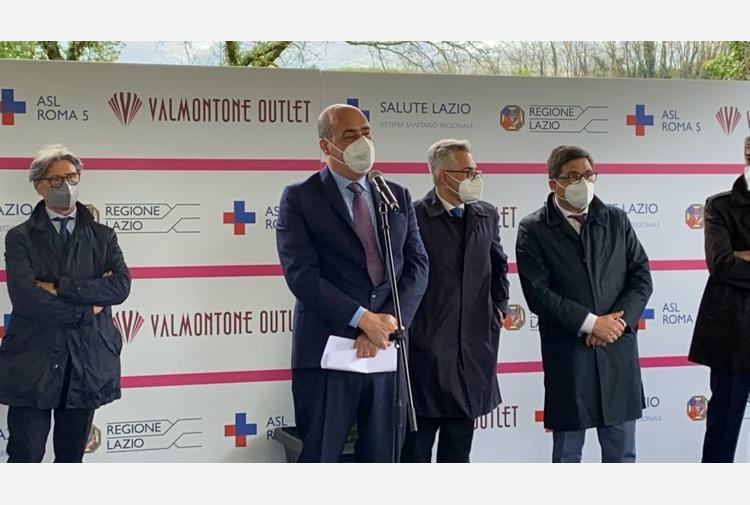 A Valmontone il primo drive-in per le vaccinazioni nel Lazio