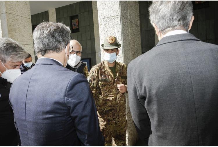 Coronavirus, il Commissario Figliuolo in visita ad Aosta