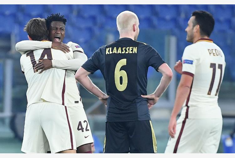 Europa League: 1-1 con l'Ajax, Roma in semifinale