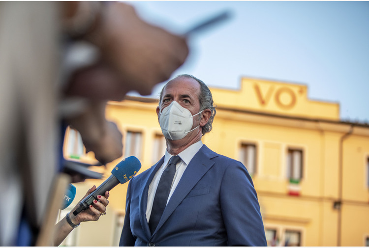 """Covid, Veneto virtualmente giallo. Zaia: """"Si cambia dal 1 maggio"""""""