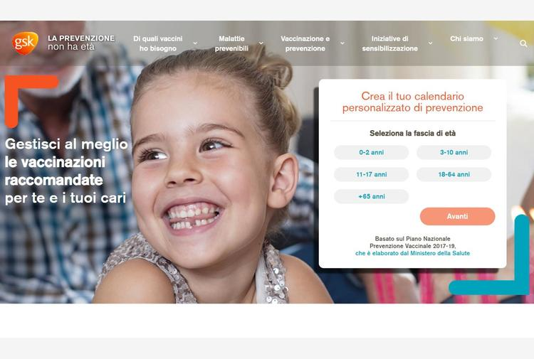 La prevenzione a ogni età, progetto per informazioni vaccinali a portata di mouse