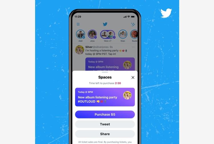 Twitter apre le live di Spaces a chi ha più di 600 follower