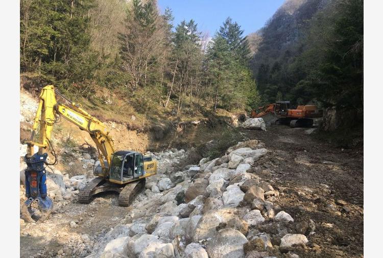 Messo in sicurezza il Rio Torto a Pedemonte in Veneto