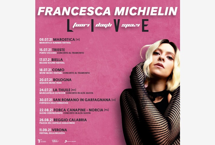 Francesca Michielin, le prime date del tour estivo