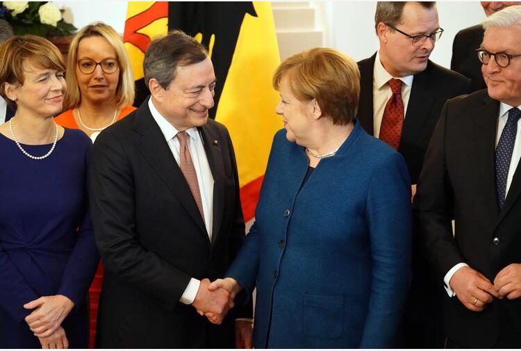 Merkel, sostegno alla leadership di Draghi per il G20
