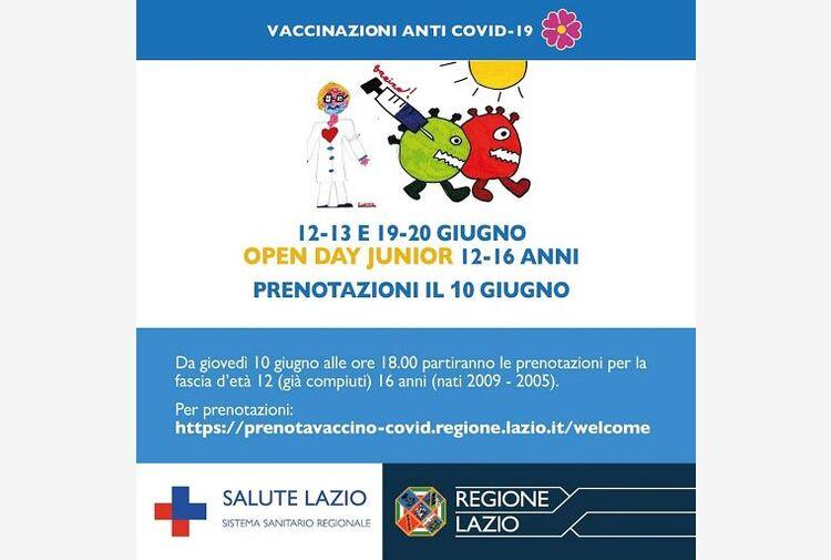 Lazio, D'Amato: vaccini 12-16 enni, boom di adesioni