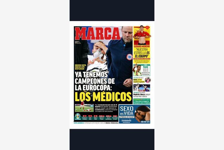 Eriksen: Marca 'abbiamo già i campioni d'Europa, i medici'