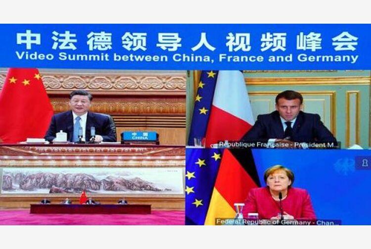 Xi, Macron e Merkel concordi: sostenere il multilateralismo