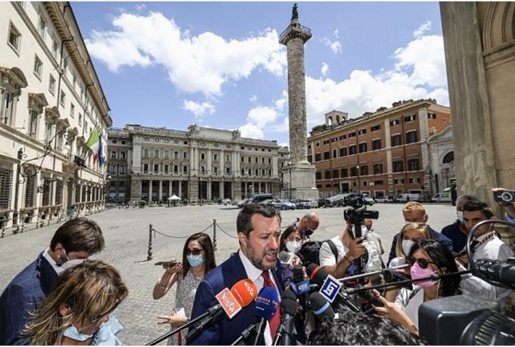 """Salvini """"Con Draghi totale condivisione, sulle riforme bisogna correre"""""""