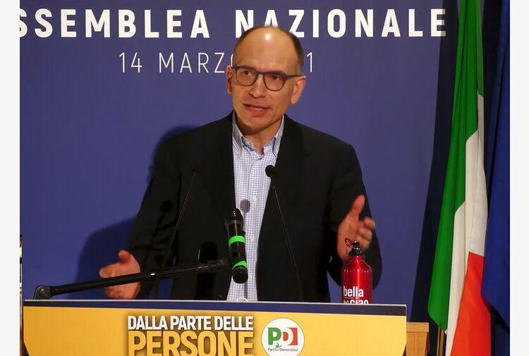 Letta a congresso Più Europa: insieme alle Politiche del 2023