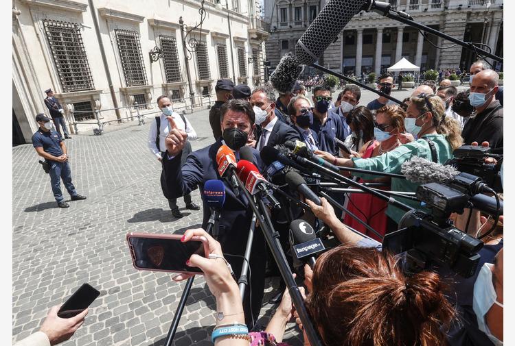 Draghi riceve Conte,giustizia-transizione ecologica tra temi