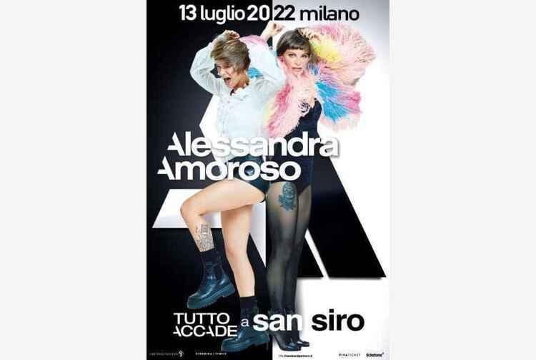 Alessandra Amoroso a San Siro nel luglio del 2022