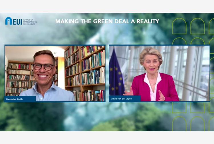 """Tassa CO2 alle frontiere, von der Leyen: """"Pronti al dialogo internazionale, in UE solo l'8 per cento delle emissioni globali"""""""