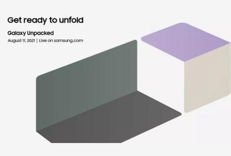 Samsung Galaxy Unpacked arriva l'11 agosto con i nuovi Fold