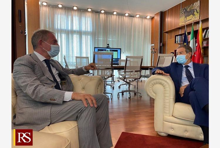 Musumeci incontra presidente Copasir, 'Sicilia sia hub del Mediterraneo'