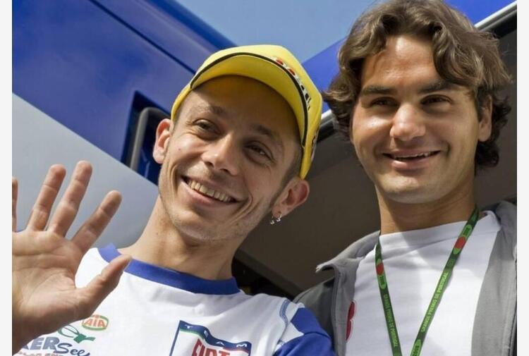 Valentino Rossi e l'amicizia con Federer: 'Era un'ispirazione'