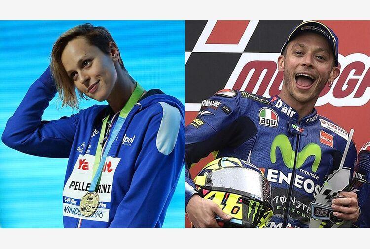Federica Pellegrini e Valentino Rossi, due giganti che hanno deciso di cambiare mestiere