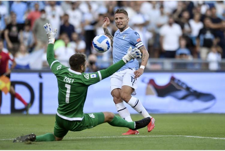 Lazio a valanga sullo Spezia, 6-1 con tripletta Immobile