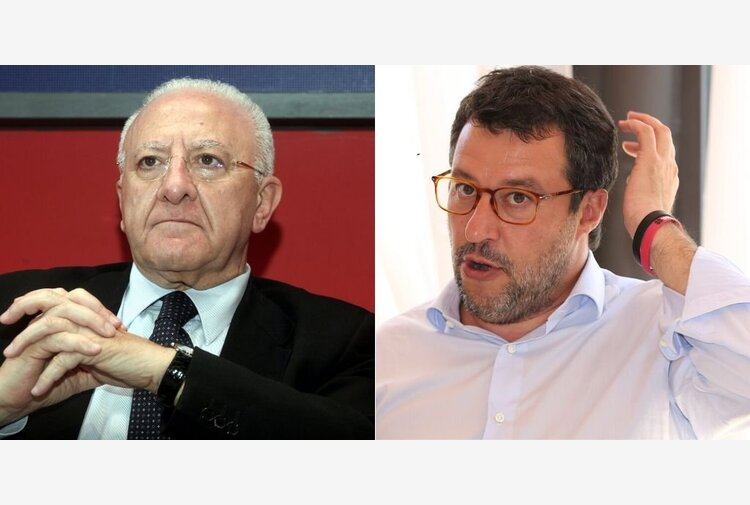 """De Luca: """"Salvini e Meloni totalmente irresponsabili. Sì all'obbligo vaccinale"""""""