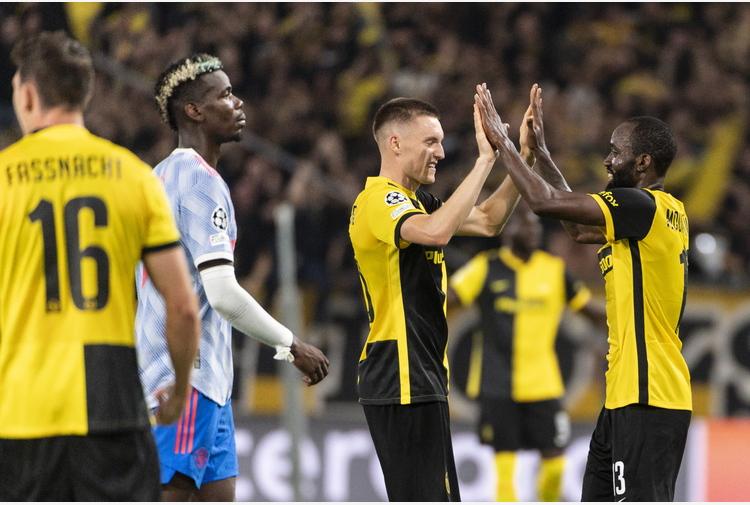 Champions: CR7-gol non basta, United ko contro lo Young Boys