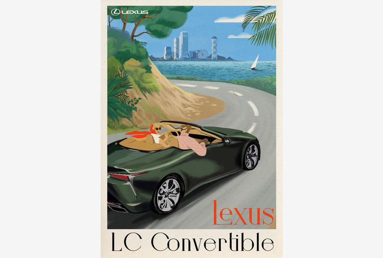 Lexus LC Convertible vince il Premio come Miglior Poster di Viaggio
