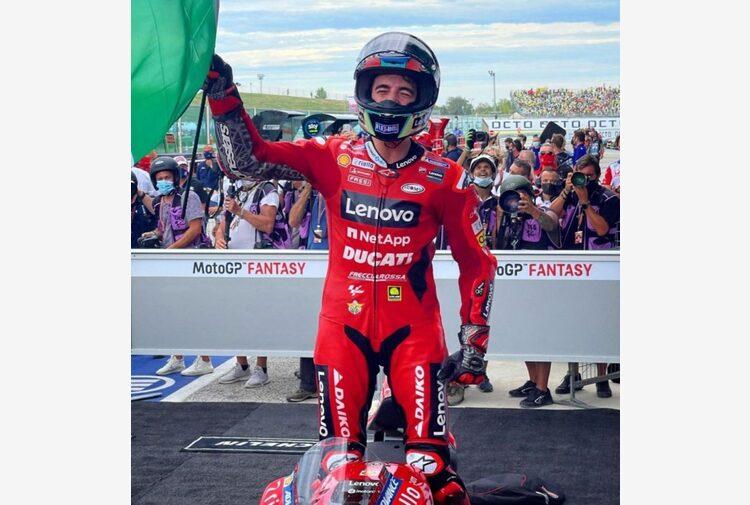 MotoGp, a Misano Bagnaia vince il Gp di San Marino davanti a Quartararo