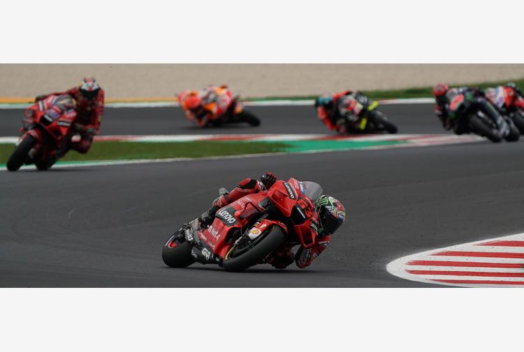 Moto: Ducati Bagnaia domina primo giorno test a Misano