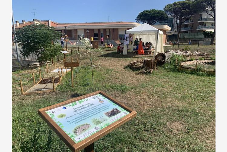 Spazi verdi nelle scuole, inaugurata a Roma la prima Aula Natura