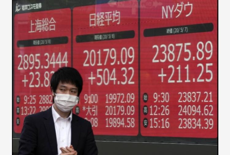 Borsa: Asia in ordine sparso, attesa per Powell,Tokyo +2,06%