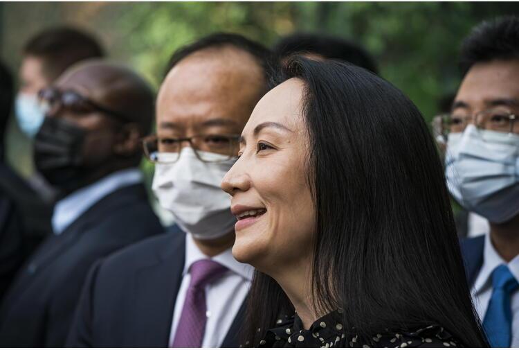 Lady Huawei lascia il Canada, in volo verso la Cina